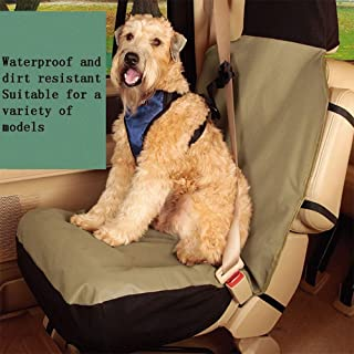 MQW Pet Car Seat Cover Front Single Seat Pet Car Mat Dog Car Seat Co-Pilot Protection Seat Cover Waterproof and Bite Keji Universal for Most Types of Cars 132 56cm Spacious and Breathable