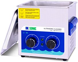 Commercial Ultrasonic Cleaner - DK SONIC 2L 60W Sonic Cleaner with Heater and Basket for Denture,Coins, Small Metal Parts,Record,Circuit Board,Daily Necessaries,Tattoo Equipment,Lab Tools,etc