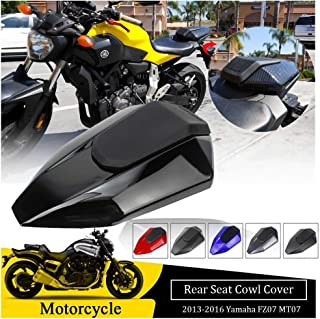 FATExpress FZ07 MT07 Accessories Motorcycle Rear Passenger Pillion Solo Seat Cowl Hard ABS Motor Fairing Tail Cover for Yamaha FZ MT 07 FZ-07 MT-07 2013 2014 2015 2016 (Red)