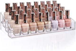 (Nail Polish Organiser) - Clear Multi-Level Nail Polish Organiser