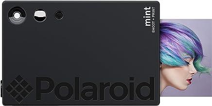 Polaroid Mint Cámara Digital de impresión instantánea con tecnología ZINK sin Tinta (Negro) Impresiones en Papel fotográfico Zink 2x3 con Base Adhesiva