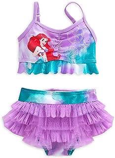 Disney Store Little Girls' Ariel Glitter Accents Swimsuit - 2-Piece