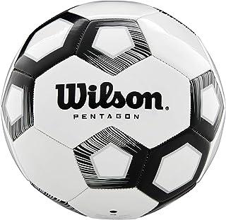 Wilson Balón de Fútbol, Pentagon, Diseño de 30 Paneles, Acolchado de Pvc, Blanco/Negro