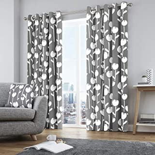 Fusion Two Curtain Panels, 100%, Lining: 52% Polyester / 48% Cotton, Grey, W117cm (46) x D137cm (54)