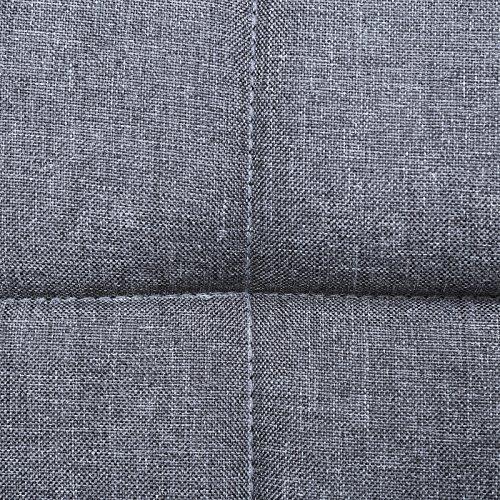 SONGMICS Barhocker mit Rückenlehne höhenverstellbar, leinen, rauchgrau, 44,5 x 38 x 115 cm - 2
