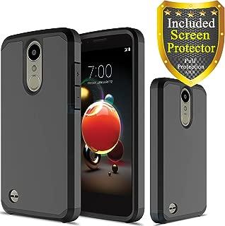 LG Aristo 3/ Tribute Empire/Aristo 2/Aristo 2 Plus/Zone 4/Tribute Dynasty/Phoenix 3/Fortune 2/Risio 2 Case, with HD Screen Protector, ATUS Hybrid Dual Layer Protective Case (Black)