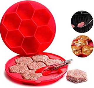 Hamburger master 7 -in-1 Innovative Burger Press, Hamburger Press Patty Maker Sandwich Maker Hamburger Maker Mould Machine, Freezer Container for Breakfast Sandwich Cutlets Grill Kitchen Tools (7IN1)