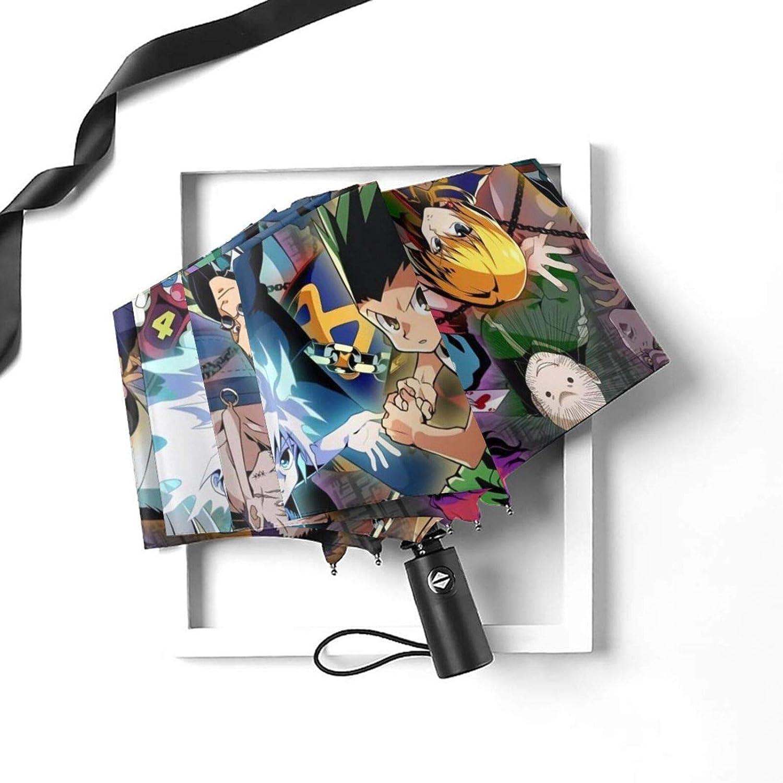 Noir Noir - Umbrella-210323255-1 PLUAN Hunter-X-Hunter Parapluie de voyage pliable 10 c/ôtes parapluies l/éger et robuste pour homme