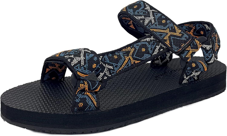 Trends SNJ Women's Lightweight Outdoor Strap Hook and Loop EVA Foam Flat Sporty Summer Sandal