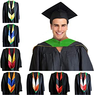 Health Science Master Hood Kelly Green Graduation Master Degree Hood, Various College Colors Available