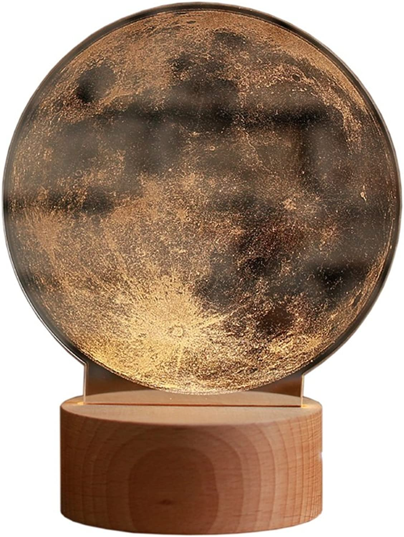 Nachtlichter Creative Mond Geburtstag Valentinstag der Mond stellt Mein Herz Round Resin Tischlampe 15  20 cm Innenbeleuchtung (Größe   Dimming switch1520 cm)