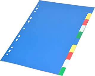 FIS Color PP Divider, 10 Colors, Plain, A4 Size - FSDV10N