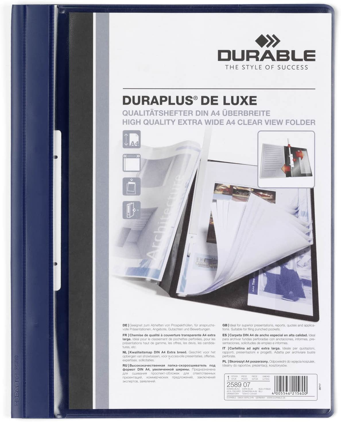 Durable Duraplus De Luxe Super Special SALE held 258907 A Folder Same day shipping View Presentation Clear