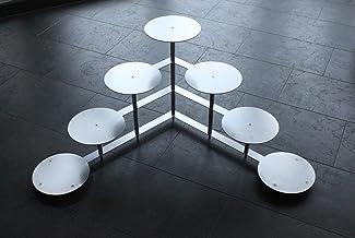 Taartstaander taartetagère rond etagère aluminium bruiloft party 4 verdiepingen 7 platen Ø 24 cm
