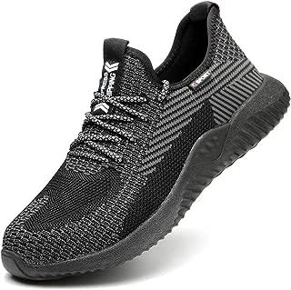Steel Toe Work Shoes Indestructible Shoes Men Women Lightweight Construction Composite Toe Shoes Black Size