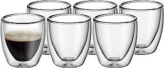 WMF Kult Lot de 6 tasses à expresso à double paroi 80 ml avec effet flottant