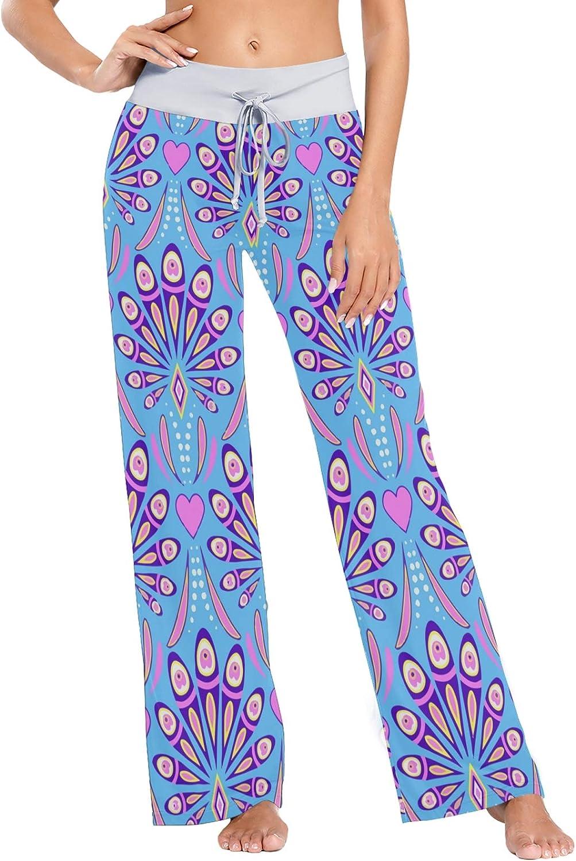 MSACRH Ranking TOP17 Pajama Pants for Women Abstract 1 year warranty Sleepwe Peacock Feathers