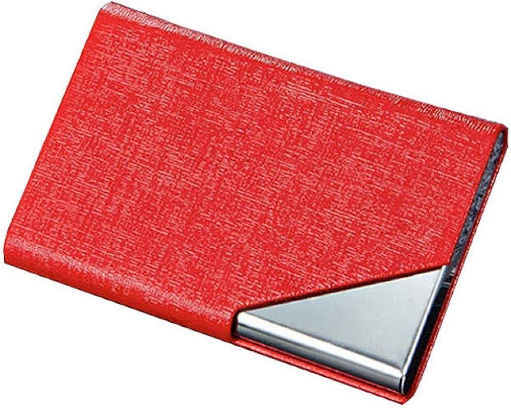 Aheczz, porta carte di credito per donna, in alluminio e pelle sintetica 7410130254311