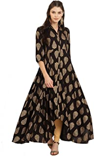 Women Dress Kurti Bollywood Designer Printed Anarkali Suit Kurta Ready to Wear