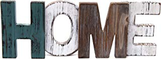 Merry Expressions Rustic Wood Home Sign Decoration   Wall Mount or as Freestanding Decoration on Table or a Fireplace Mantel   Perfect Cutout Word Sign Accent for a Family Living Room Centerpiece