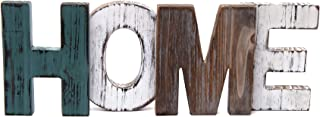 Merry Expressions Rustic Wood Home Sign Decoration | Wall Mount or as Freestanding Decoration on Table or a Fireplace Mantel | Perfect Cutout Word Sign Accent for a Family Living Room Centerpiece