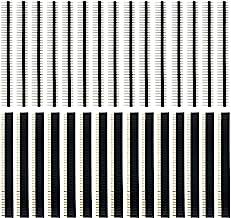 30 Stücke 2.54mm 40 Pin Header Männlich und Weiblich Stiftleiste PCB Löten Buchsenleiste Lötpins Lochrasterplatine für Arduino Prototyp Shield