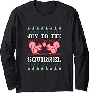 Funny Christmas Squirrel Ugly Sweater Gift T-Shirt