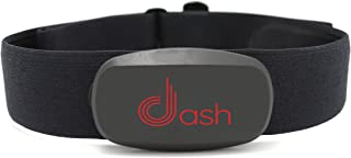 Dash Bluetooth Heart Rate Monitor Chest Strap & Health Sensor for iPhone. Tracks HR Zones & Calories Burned - Perfect for Running,  Cycling & Fitness Activity