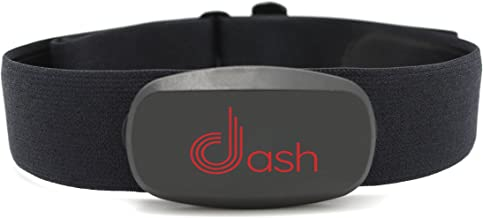 Dash Bluetooth Heart Rate Monitor Chest Strap & Health Sensor for iPhone or Android. Tracks HR Zones & Calories Burned - Perfect for Running, Cycling & Fitness Activity