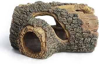 Hygger Betta Log Resin Hollow Tree Trunk Ornament, Betta Fish Accessories, Aquarium..