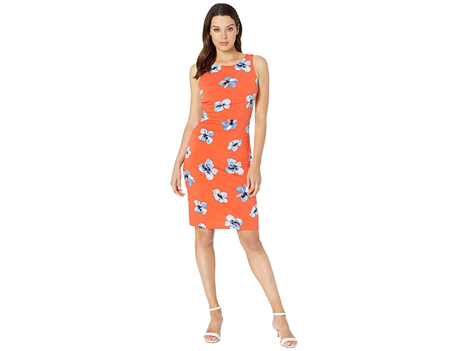 Tommy Hilfiger Floral Jersey Side Rouge Dress (Grenadine Combo) Women