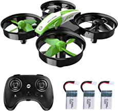 $29 » Holy Stone Kid Toys Mini RC Drone for Beginners Adults, Indoor Outdoor Quadcopter Plane for Boys Girls with Auto Hover, 3D Flip, 3 Batteries & Headless Mode, Great Toddler Gift, Green