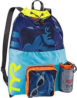 Swim Bundle: TYR Big Mesh Mummy Backpack & Swimming Earplugs