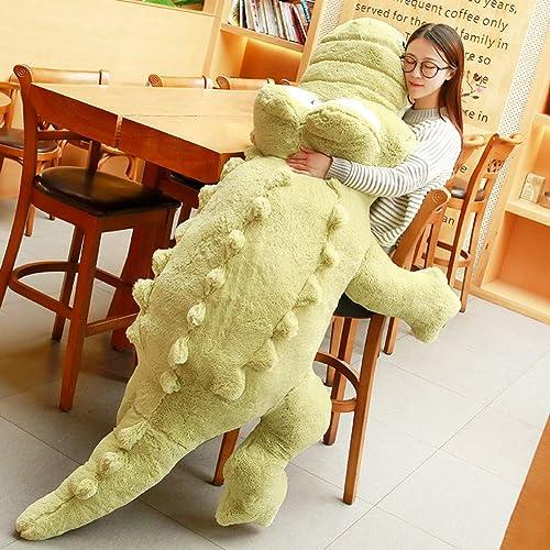L&J Shaggy Plüschtiere Weißh Krokodil-Puppe Kuscheligem Sleeping Kissen Geschenk-A 150cm(59inch)