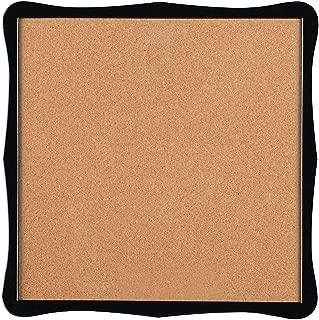 Quartet Corkboard, Framed Bulletin Board, 14 x 14 inches Cork Board, Home Organization, Black Frame (50722)