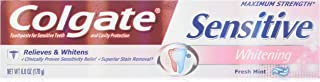 Colgate SensのToothpst Plsのサイズ6Z最大強度敏感プラスホワイトニングハミガキ