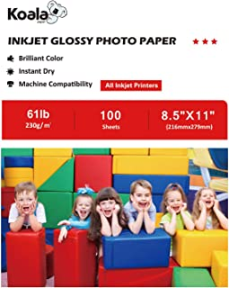Koala Photo Paper High Glossy 8.5x11 Inches 230gsm 100 Sheets Compatible with Inkjet Printer