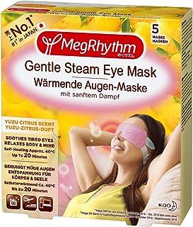 MegRhythm Gentle Steam Warming Eye Mask, Citrus, Pack of 5