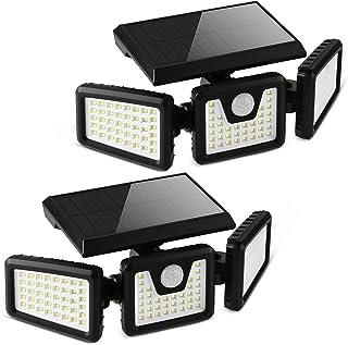 Otdair Solar Security Lights, 3 Head Motion Sensor Lights Adjustable 118LED Flood Lights Outdoor Spotlights 360° Rotatable...