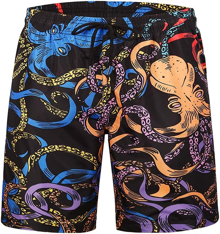 Wrqq Farbenfrohe Octopus-Muster Mens Swim Swim Swim Trunks Shorts Quick Dry Beach Broad Mit Taschen Zum Surfen Schwimmen,FarbefulOctopus,M B07NSQSGR2  Ausgewählte Materialien 527888