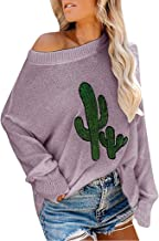 LEKODE Sweater Women's Pullover Printed Long Sleeve Knit