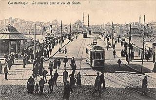 Constantinople Turkey Street Scene Bridge and Trolley Antique Postcard J76524