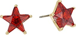 Betsey Johnson - Red and Gold Star Stud Earrings
