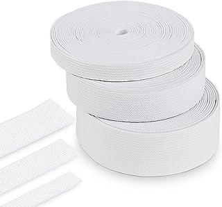 Agoer Ruban élastique Blanc 10-20 - 30mm, 15 mètres / 16 Yards Bande élastique Bobine de Cordon élastiques Couture pour Ar...
