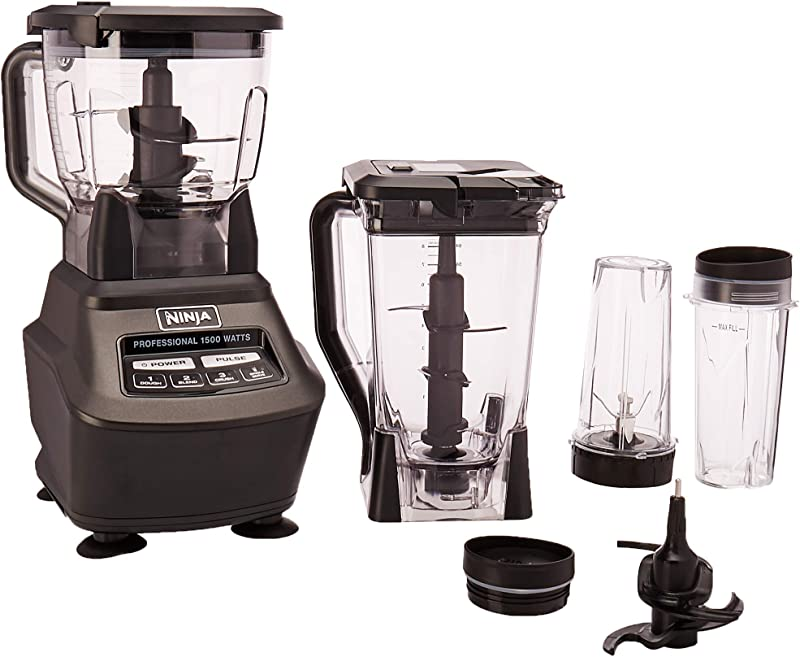 Ninja Mega Kitchen System BL770 Blender Food Processor With 1500W Auto IQ Base 72oz Pitcher 64oz Processor Bowl 2 16oz Cup For Smoothies Dough More