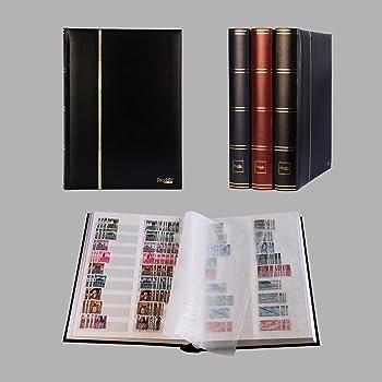Leuchtturm 319991 Album pour 200 FDC ou Lettres en Format C6, avec /étui de Protection, Rouge