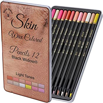 Light Skin Tone Colored Pencils for Adults - Color Pencils for Portraits and Skintone Artists - A Complete Color Range - Now With Light Fast Ratings.