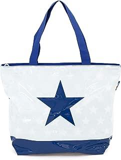 ARDITEX Grand sac de plage en pvc avec fermeture à glissière modèle Etoile 52x40x15cm 3 assortis Travel Tote, 52 cm, Multicolour (Multicolore)