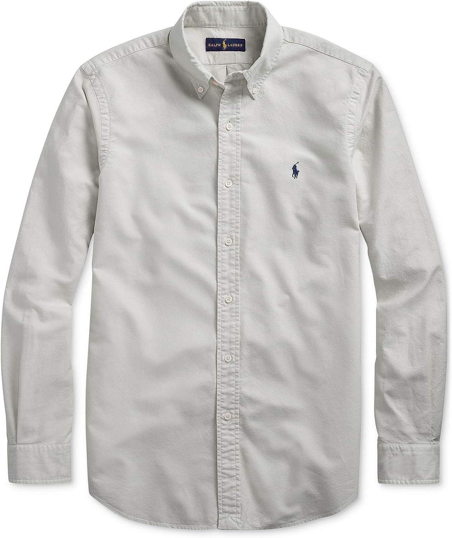 Polo Ralph Lauren Men's Classic Fit Garment Dyed Long Sleeve Oxford Shirt