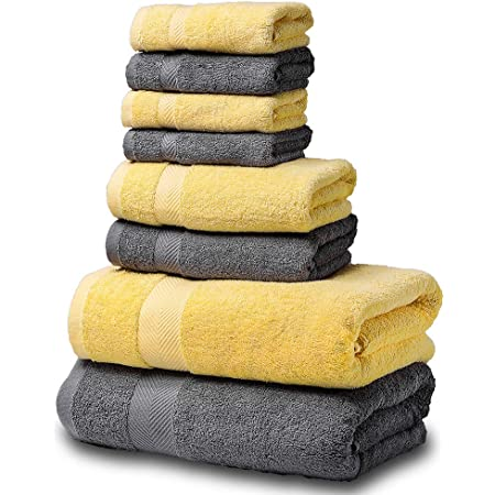 SEMAXE Luxury 100/% Cotton Bath Towel Set.Hotel Quality.Premium Collection Bathro